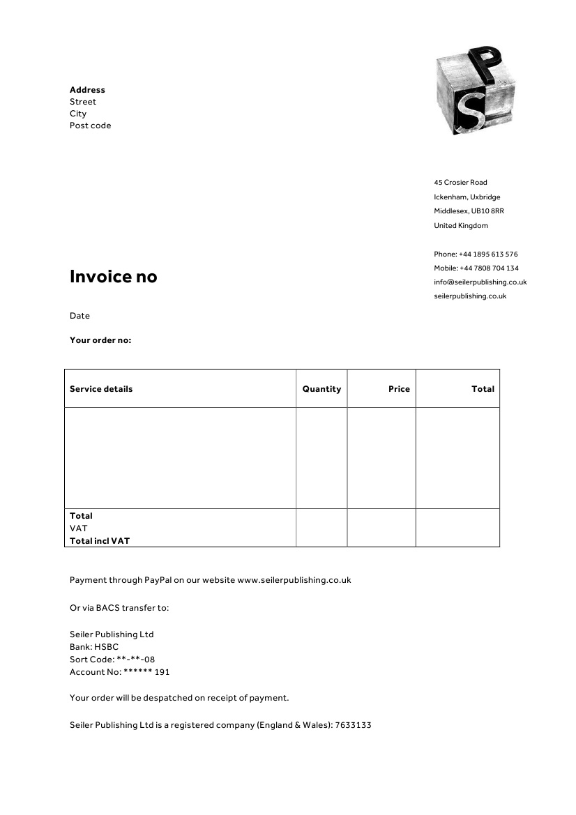 Invoice Template Stationery Psychotherapists  Microsoft Invoice Template Uk